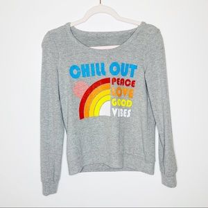 Chaser 'Chill Out' Triangle Open Back Long Sleeve